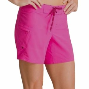 Athleta Clearwater board shorts pink 6